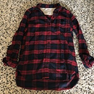 Muji Tops - Plaid flannel shirt